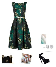 """Untitled #21"" by isidora-mary on Polyvore featuring Casadei, Prada, Gray Malin and Masquerade"