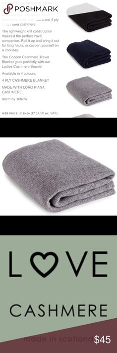 100% Cashmere Travel Blanket COCOON CASHMERE TRAVEL BLANKET Luxurious 100%  Cashmere Travel Blanket is made from the finest 4 ply Loro Piana cashmere.  Love ... 68f526b5c
