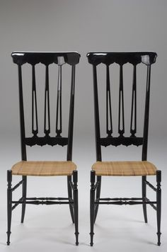 Chivalry High Back Black Lacquer Chairs I have one of these in my house - they were my mother's dining room chairs when I was a child.