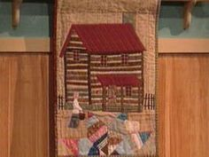 I ❤ to quilt . . . How to Sew a Log Cabin Applique- Create a log cabin design that's great for a quilt, sampler or pillow using the faced applique technique. Log by Log by Wendy Etzel-log cabin photos or drawings, fabrics, ruler, non-fusible, non-woven, light to medium weight,   stabilizer, roof templates, scissors.   Instructions provided courtesy of quilter & author Wendy Etzel. More details with photos & roof templates are available in Etzel's book Log by Log.