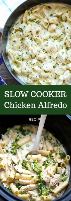 Slow Cooker Chicken Alfredo - Cool Mom Spot