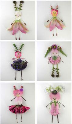 Artworks by Elsa Mora. #art #flower #doll #crafts