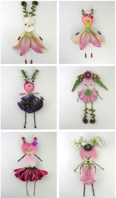 Artworks by Elsa Mora. #art #flower #doll #crafts