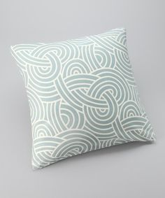 Take a look at this Frog Hill Designs Blue Maze Down Square Pillow by Frog Hill Designs on #zulily today!