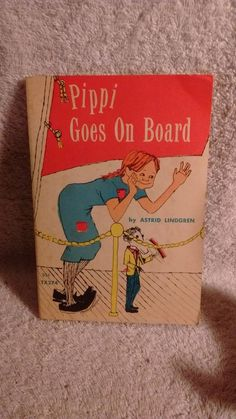 Pippi Goes on Board by Astrid Lindgren 4th printing 1966