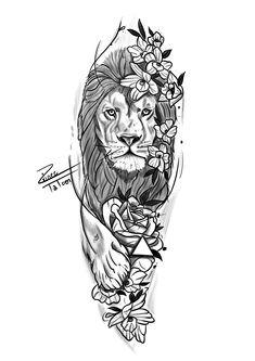 Forarm Tattoos, Leo Tattoos, Animal Tattoos, Tattoos For Guys, Sleeve Tattoos, Tattos, Tattoo Designs, Lion Tattoo Design, Tattoo Design Drawings