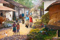 Resultado de la imagen de paisaje pinturas al óleo sobre lienzo