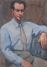 Portrait dhomme à la cravate by Julia Theophylactos