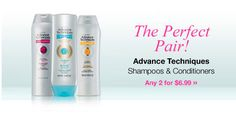 #AVON - Advance Techniques Shampoos & Conditioners - ANY 2 FOR $6.99 #FREESHIPPING Shop Here ===> www.youravon.com/jesskovach
