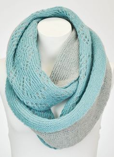Look at this Leto Collection Teal Two-Tone Peekaboo Infinity Scarf by Leto Collection Knit Cowl, How To Wear Scarves, Color Pop, Fashion Accessories, Infinity, Teal, Clothes For Women, My Style, Fashion Design