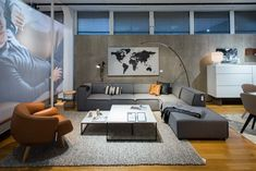 The masculine modula BoConcept Carmo sofa in an industrial, yet warm set-up | BoConcept Vancouver