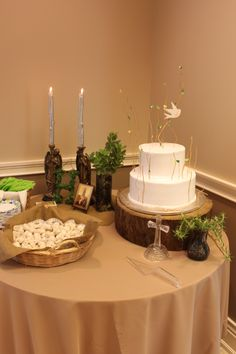First Communion Party for a boy - woodland theme