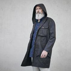 Akerfeldt Coat - Digital Sewing Pattern – Elbe Textiles Coat Pattern Sewing, Sewing Patterns, Flat Felled Seam, Waxed Canvas, Digital Pattern, Fabric Weights, Raincoat, Winter Jackets, Menswear
