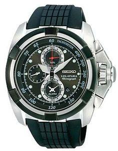 Seiko Velatura Alarm Chronograph Black Dial Watch # SNAA93P2. Please visit us at the following URL: http://www.bodying.com/seiko-velatura-alarm-chronograph-snaa93p2/watches/26828