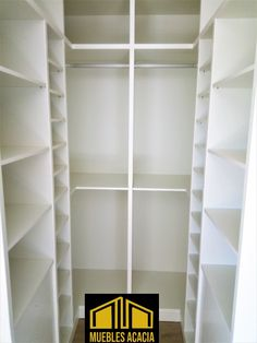 Vestidor hecho a medida de laminado blanco soft Shelving, Home Decor, Ideas, Walk In Closet, Drawers, White People, Barbell, So Done, Products