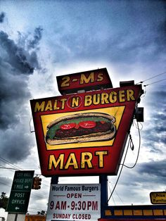 Original sign old burger place in Rosenberg, TX