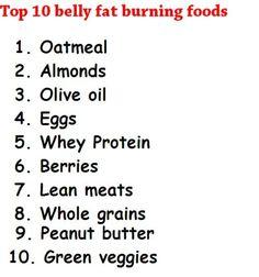 Top 10 Belly Fat Burning | http://loose-weight-images-az.blogspot.com