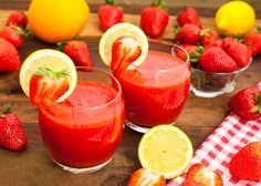 Smoothie limonade/fraise