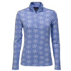 Campagnolo, ski sweater women, BlueSoft stretch skisweater by Campagnolo Soft stretch Campagnolo ski sweater/ skipully, a great Italian brand. This half-zip ski sweater has a zipper that stops on the chest.