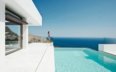 Altea Hills Estate- The Most Luxurious Exclusive Residential Villa Complex on the Costa Blanca, Alicante, SPAIN Minimalist House Design, Minimalist Home, Altea Hills, Contemporary Small Bathrooms, Cliff House, Residential Complex, Modern Mansion, Menorca, Cool Pools