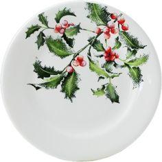 Gien Holly Dessert Plate
