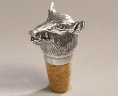 Hunting - BOTTLE STOPPER BOAR  - hand made from Poland