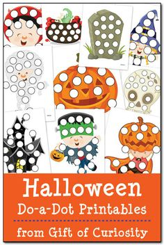 Halloween Do-a-Dot Printables - Gift of Curiosity