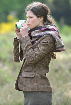 Ladies Tweed Jacket - and scarf