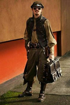 Jul 2017 - Get inspiration for a costume or simply look at cool stuff. See more ideas about Steampunk costume, Steampunk and Steampunk fashion. Moda Steampunk, Costume Steampunk, Style Steampunk, Steampunk Couture, Victorian Steampunk, Steampunk Clothing, Steampunk Fashion Men, Steampunk Outfits, Steampunk Drawing
