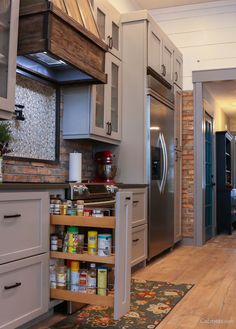 A spice rack adds function to your kitchen!