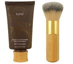 tarte Amazonian Clay Full-Coverage Foundation SPF15 w/Brush