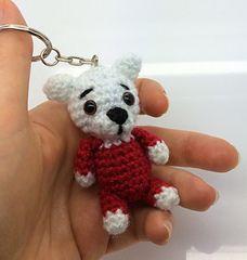 Make It: Bear Keychain - Free Crochet Pattern #crochet #amigurumi #free #ravelry