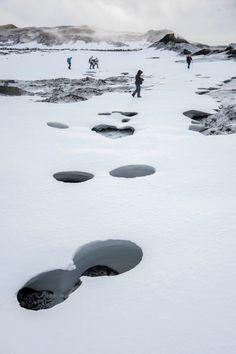 Myvatn in winter, Iceland