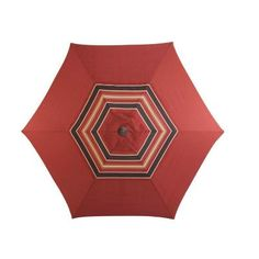 Martha Stewart Living Cedar Island 9 Ft. Patio Umbrella In Dragon  Fruit DY4035