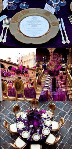 Purple and Gold Wedding Ideas