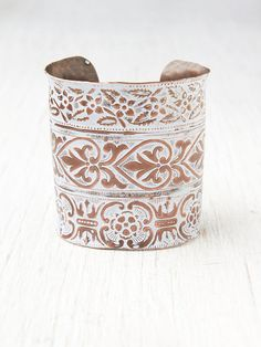Free People Engraved River Cuff, $168.00