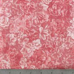 Pink Packed Roses Cotton Calico Fabric | Hobby Lobby | 237859
