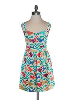 Judith March - Aztec Bird Tieback Dress