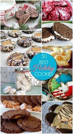 50 Best Christmas Cookies - Amazing Holiday Cookie Recipes for parties, holiday dinners and cookie exchanges