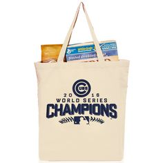 Chicago Cubs 2016 World Series Champions Official Reusable Shopping Grocery Bag  #WorldSeries #ChicagoCubs #Cubs #FlyTheW SportsWorldChicago.com