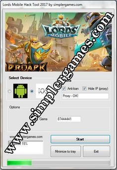 Lords Mobile Hack Tool 2017 http://simplergames.com/lords-mobile-hack-tool-2017/