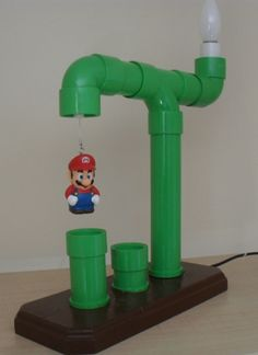 Awesome Super Mario Green Pipe Lamp                                                                                                                                                      Mais