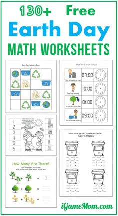 Free Earth Day theme math printable worksheets for kids from preschool, kindergarten to elementary school age. Some allows you to generate more worksheets of the chosen template and content, such as two-digit addition. Math Activities For Kids, Kids Math Worksheets, Earth Day Activities, Free Printable Worksheets, Math For Kids, Preschool Kindergarten, Number Activities, Preschool Curriculum, Primary School Education