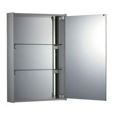 G bathroom  Whitehaus Vertical Double Faced Medicine Cabinet with Mirrored Door