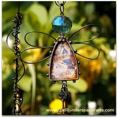 Linda Peterson's video tutorial on how to make a charming Fairy for Spellbinders' Media Mixage Monday Garden Deco, Garden Art, Wire Jewelry, Jewelry Art, Jewlery, Wire Crafts, Jewelry Crafts, Garden Journal, Wire Art