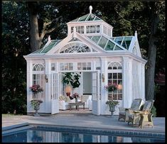 FRENCH VICTORIAN CONSERVATORY – MG117 Houston Tx - Hand Carved Solid Marble Outdoor Gazebos - Patio Gazebos
