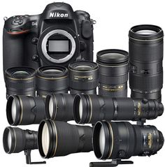"""Want a """"complete set"""" of Nikon DSLR equipment without having to buy each of the lenses individually? The Japanese camera shop Map Camera is offering a sale Nikon Camera Lenses, Nikon Digital Camera, Nikon Cameras, Canon Lens, Digital Slr, Film Camera, Leica Camera, Camera Hacks, Camera Gear"""