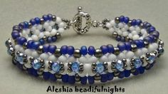Lattice Beaded Bracelet DIY Fashion Tips / DIY | http://my-creative-handm...