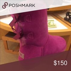 Final Price❌Bailey Bow Uggs 🎀 First pic is actual color. Comes with box! UGG Shoes Ankle Boots & Booties