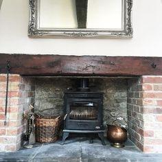 My fireplace #interiordesign #interielle #interior #livingroom #homedesign #home #design #lounge #farmhouse #barnconversion #barn #fireplace #fire by interielle http://discoverdmci.com